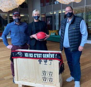 soutien des Ports Francs aux Lions de Genève Anne-Claire Bisch Gilbert Epars Thierry Moreno